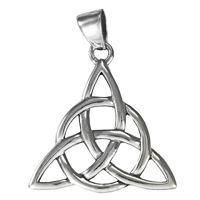 - Large Sterling Silver Celtic Trinity Knot Triquetra Pendant Jewelry Irish
