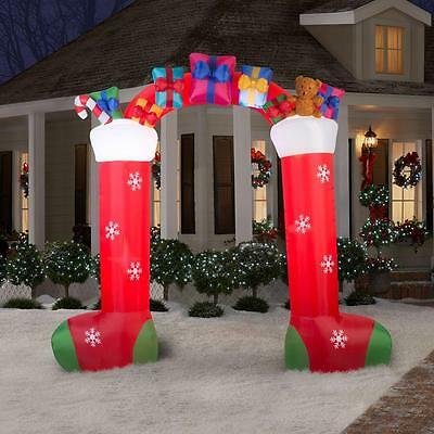Lighted Stocking Archway Christmas Airblown Inflatable Outdoor Decoration