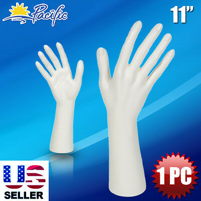 White Female Mannequin Hand Display Jewelry Bracelet ring glove Stand holder