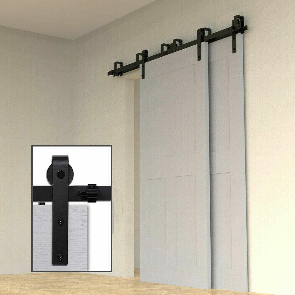 4 20ft black sliding barn wood door