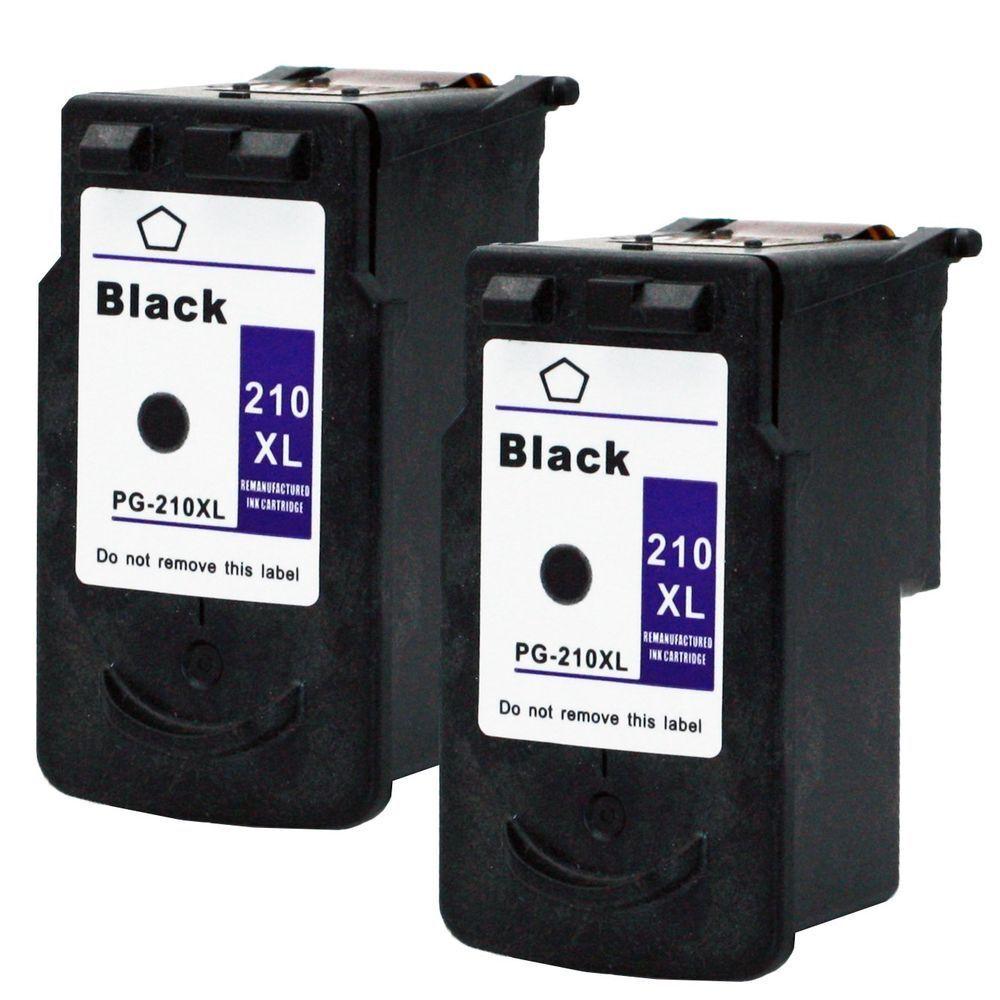 2pk Pg-210xl Black Ink For Canon Pixma Mp240 Mp250 Mx340