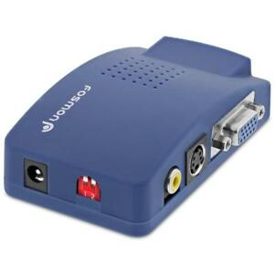 New  Fosmon HD1882 PC to TV Video VGA to RCA Converter Box Condition: New
