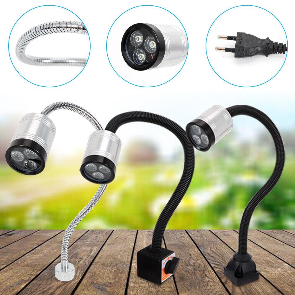 6W LED Arbeitsleuchte Magnetfuß Lampe Schwanenhals Leuchte für CNC-Drehmaschine