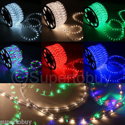 Assorted Sizes 110v Led Rope 2 Wire Flexible Diy Lighting Outdoor Christmas Xmas