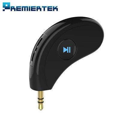 3.5mm AUX Car Bluetooth v4.2 Receiver Speaker Music Streaming Audio Mic Volume