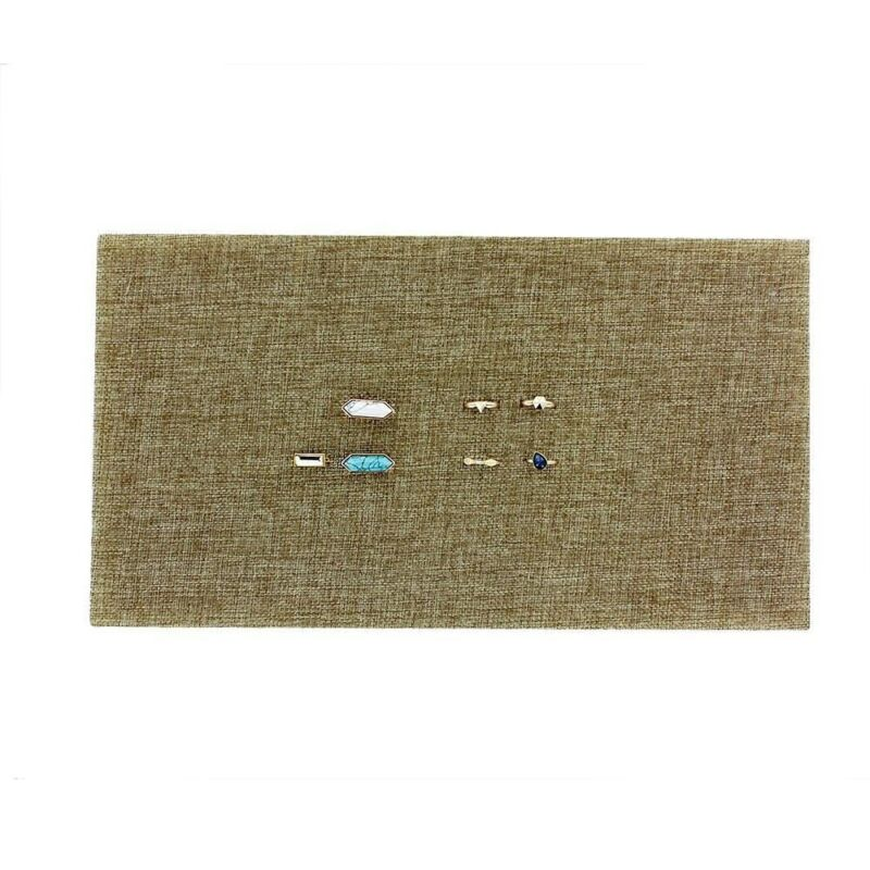 Burlap Covered 72 Ring Insert For Jewelry Trays