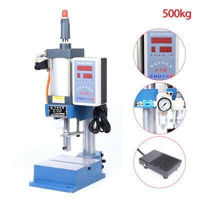 500kg1100lbs Pneumatic Press Punch Machine With Digital Display Controller110v