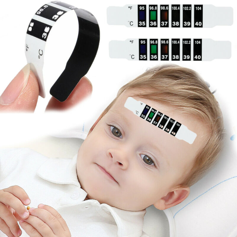 Fever Body Baby Child Kid Adult Check Test Temperature Monitoring Safe A 8PCS Forehead Thermometer Strips