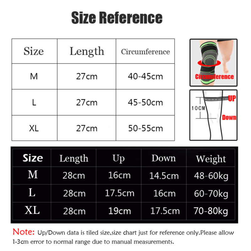 2*Knee Brace Support Compression Stabilizer Gym Joint
