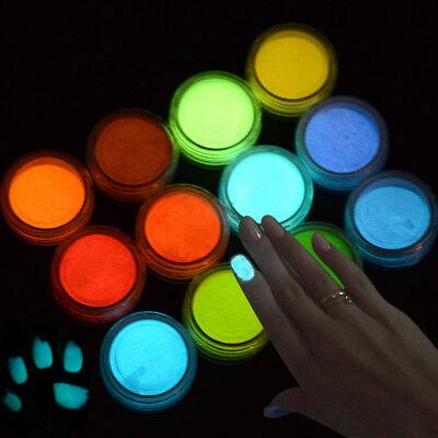 Neon Luminous 3D Nail Art Decoration Colorful Fluorescent Sand Powder  - Neon Colors Decorations