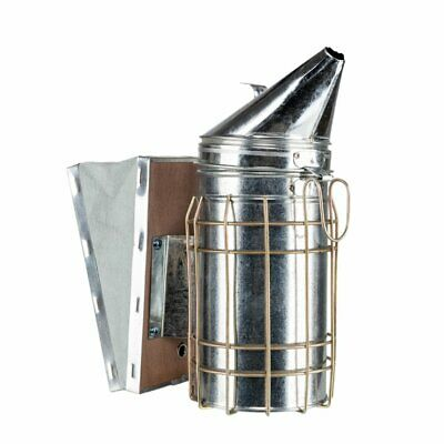Honey Harvest Keeper Bee Hive Smoker Galvanized Beekeeping Equipment Silver New