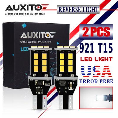 AUXITO 2X CANBUS 921 T15 Backup Light Bulb W16W 912 Error Free LED Reverse Light