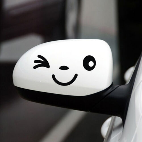 1x Cute Smile Face Car Stickers and Decals Funny Decoration Sticker Car Styling