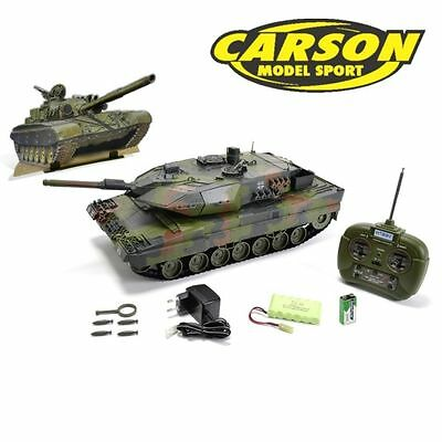 Carson Hobby Engine Panzer Leopard 2A5 100% RTR 27MHz Komplett Set Fahrfertig