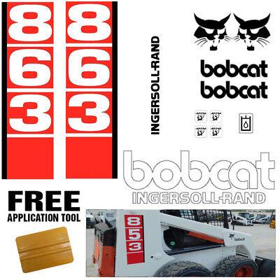 Bobcat 863 V1 Skid Steer Set Vinyl Decal Sticker Bob Cat Made In Usa Free Tool