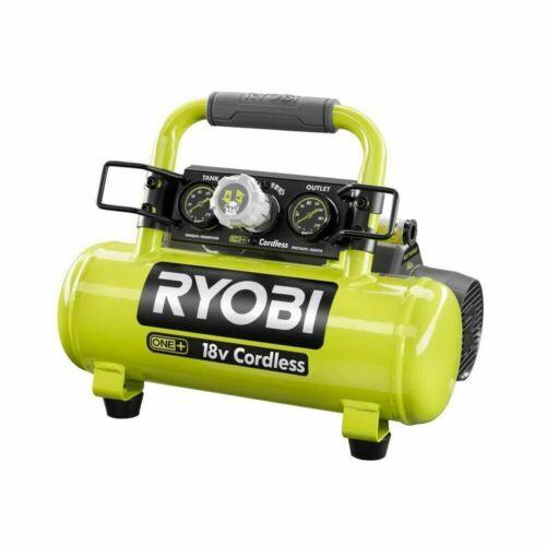 PORTABLE CORDLESS AIR COMPRESSOR RYOBI 1 Gal. 18-Volt 120 PSI Electric Oil-Free