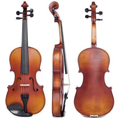 Vif 4/4 Full Size Handmade Natural Acoustic Violin Student Fiddle Case Bow Set on Rummage
