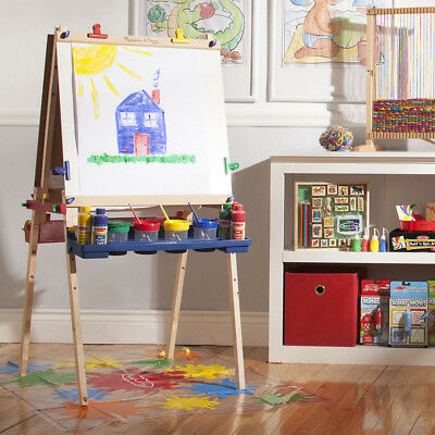 Melissa and Doug Kids Art Deluxe Artist Easel for Toddlers Painting and Drawing - Easel For Toddler