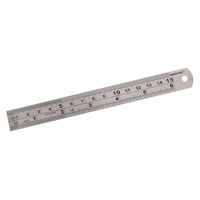 "6"" 150mm Stainless Steel Rule Ruler Imperial Metric Premium Quality Measuring UK"