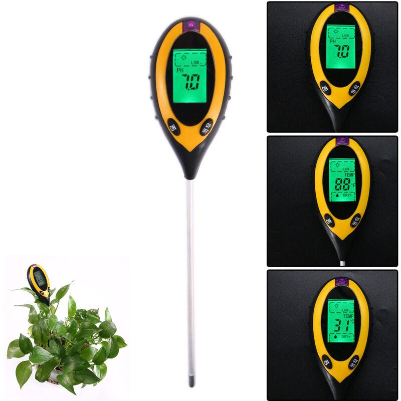 4-in-1 PH Tester Soil Water Moisture Garden Plant Seeding Temperature Measurer
