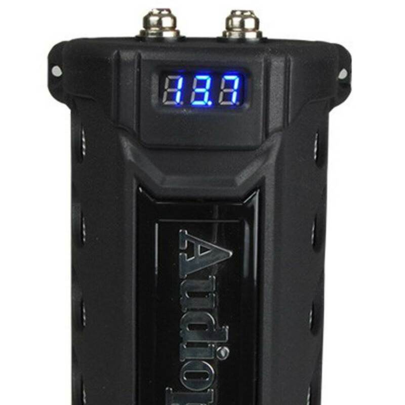 Audiopipe ACAP-6000 6 Farad Power Car Audio Capacitor Digital Display Black