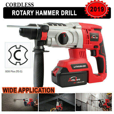18v20v Cordless Rotary Hammer Drill Impact Sds-plus Brushless Demolition Battery