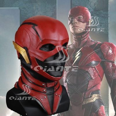 Justice League the Flash Barry Allen Cosplay Mask Latex Full Mask Halloween New - Flash Mask
