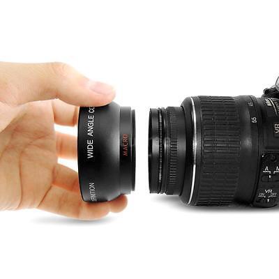 HD 52MM 0,45X Fisheye Weitwinkel&Makro-Objektiv für Canon Nikon SONY DSLR-Kamera ()