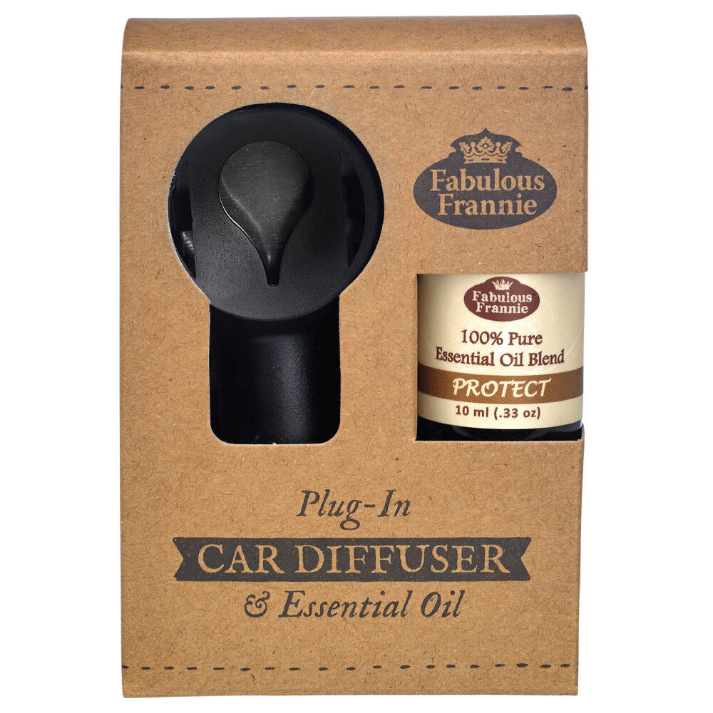 Car Electric Diffuser and PROTECT Pure Essential Oil Blend 1
