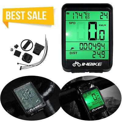Bike Bicycles Waterproof Wireless Road Speedometer LCD Computer Odometer US Ship