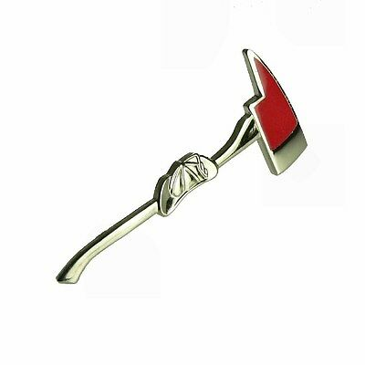 Pick Ax Helmet Lapel Hat Pin Tie Tac Firefighter Fireman Fire Department Axe