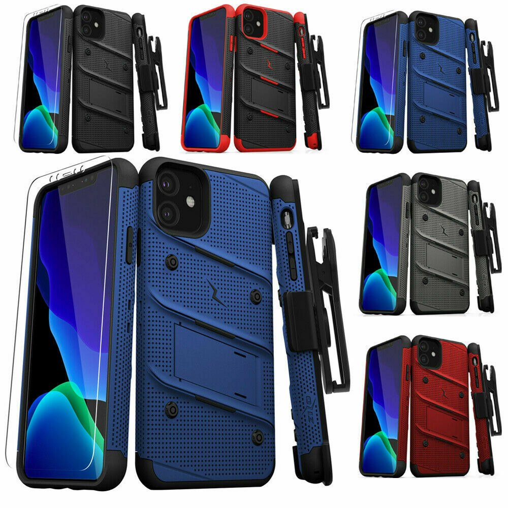 iPhone 11  Case Zizo Bolt Series with Tempered Glass + Holst