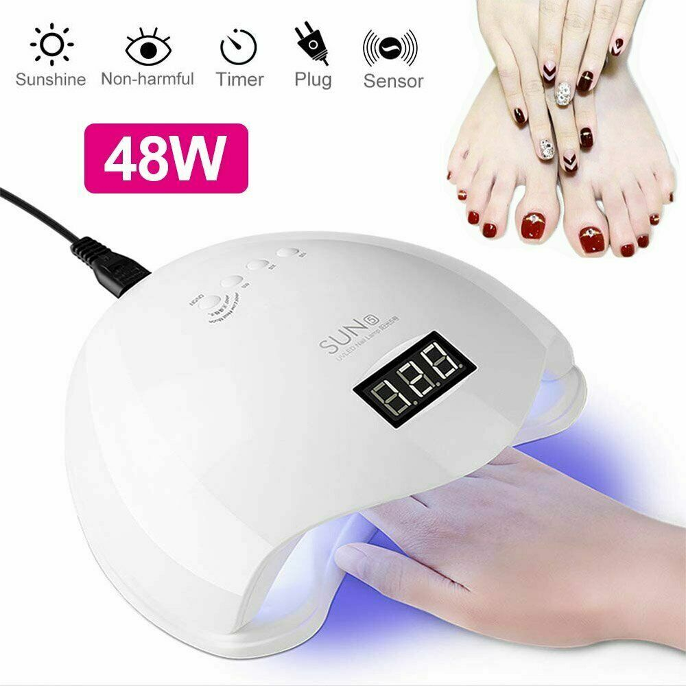 Professional 48W SUN5 Polish Gel UV Curing Nail Dryer LED Lamp Manicure Machine Health & Beauty