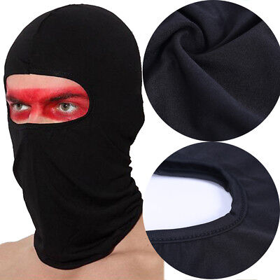 Black Ultra Thin Lycra Ski Bicycle Face Mask outdoor sports Football Cap Hat