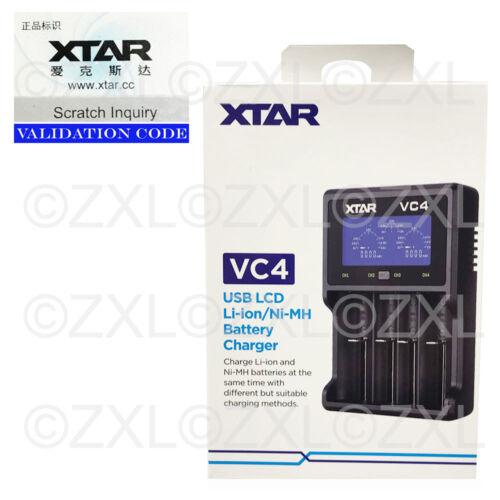 Xtar VC4 USB Battery Charger LCD Display Li-ion Ni-MH 14500 18650 32650 AA AAA