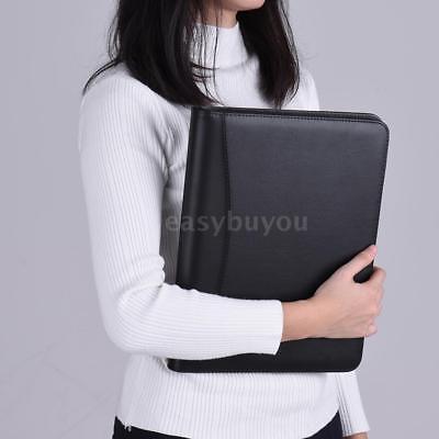 Business Portfolio Padfolio Folder Document Case Organizer A4 Pu Leather U9m0