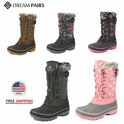 DREAM PAIRS Kids Boys Girls Snow Boots Winter Fur Warm Zip W