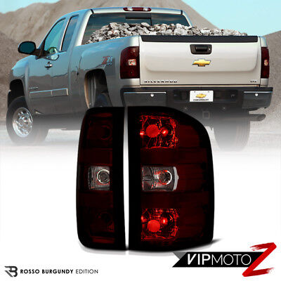 [SINISTER RED] Dark Smoke Rear Brake Tail Light Assembly 07-13 Chevy Silverado ()