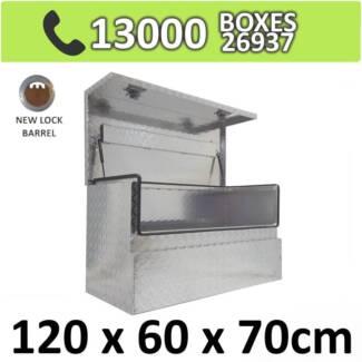 Aluminium Side 3/4 Opening Square Storage Ute Toolbox 1267