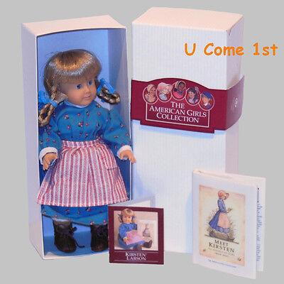 MINI KIRSTEN DOLL~GLASS EYES! PLEASANT COMPANY~AMERICAN GIRL! BOX~BOOK~PAMPHLET