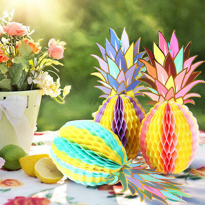 1/3X Paper Pineapple Table Decor Hawaiian Beach Party Birthday Festival Supply