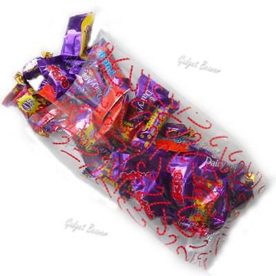 24 Christmas Treat Bags,Cellophane Cello Xmas Bag Party Gift Favour CANDY CANE