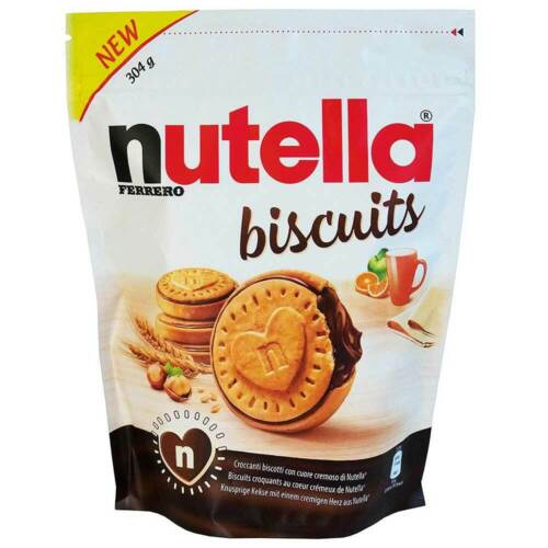 Ferrero Nutella BISCUITS  304g  Made in ITALY - FREE SHIPPING -