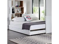 Brand New Dwell Buddy Extending Guest Bed White with two drawers single / double