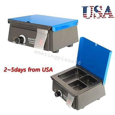 Dentist Dental 3 Well Analog Wax Melting Dipping Pot Heater Melter Lab Usa Fast
