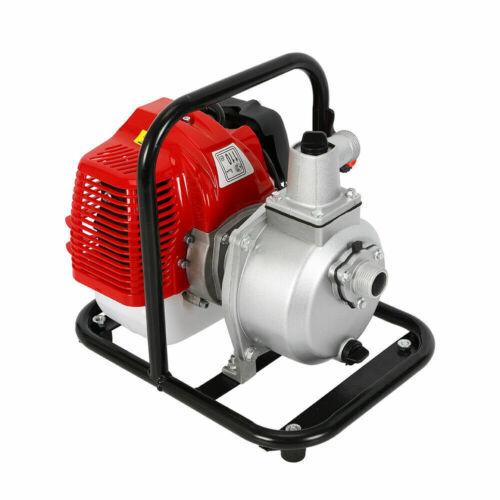 2-Takt 1,7PS Benzin Wasserpumpe Motor Schmutzwasserpumpe Teichpumpe Gartenpumpe