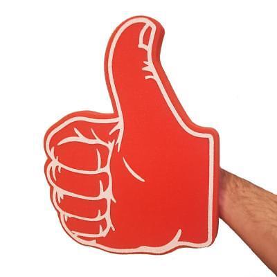 THUMBS UP / THUMBS DOWN RED BIG FOAM HAND - FOOTBALL FANCY DRESS TV THUMB PROP (Thumbs Up Thumbs Down)