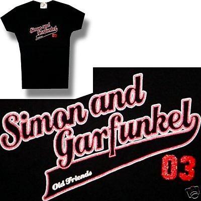 "SIMON & GARFUNKEL ""BASEBALL LOGO"" 2003 TOUR GIRLS JUNIORS T SHIRT SMALL NEW"