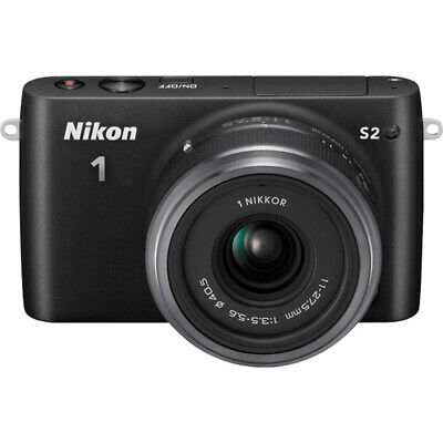 Nikon 1 S2 Mirrorless 14.2MP Digital Camera with 11-27.5mm Lens - Black