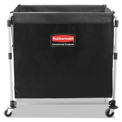 Rubbermaid Collapsible X-cart Steel Eight Bushel Cart Blacksilver 1881750 New